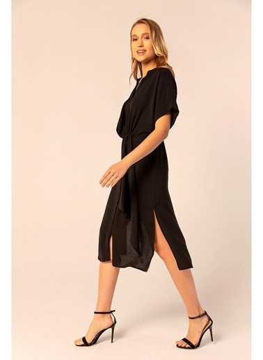 Tiffany&Tomato Düğüm Detaylı Patlı Elbise Siyah